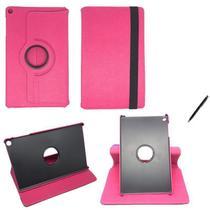 """Capa Novo iPad 7 Geração 10.2"""" 360 / Caneta - Rosa - Global Cases"""