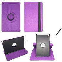 """Capa Novo iPad 7 Geração 10.2"""" 360 / Caneta - Roxo - Global Cases"""