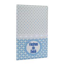 Capa p/ carteira de Vacinas do Bebê Azul Bordado Masculino - 151449 - TUDOPRAFOTO