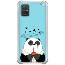 Capa p/ galaxy a71 (1593) panda chocolate quente - Quarkcase