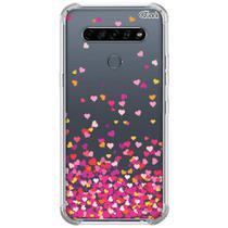 Capa p/ lg k61 (0010) corações rosa - Quarkcase