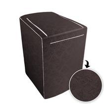 Capa p/ Máquina de Lavar Brastemp c/ zíper de 12 á 16kg Café - Biazon Decor