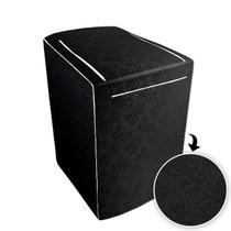 Capa p/ Máquina de Lavar Consul c/zíper de 10 á 11,5kg Preto - Biazon Decor