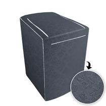 Capa p/ Máquina de Lavar Electrolux c/zíper de 12 á 16kg Grafite - Biazon Decor