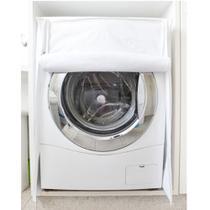 Capa p/ máquina de lavar frontal c/ zíper flanelada secalux -