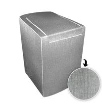 Capa p/ maquina de lavar glamour 10 a 11,5 kg - electrolux grafite - Biazon Decor
