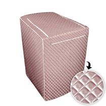 Capa p/ maquina de lavar glamour 12 a 16 kg - consul  cobre - Biazon Decor