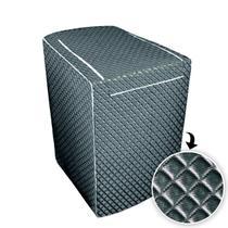 Capa p/ maquina de lavar glamour 7 kg a 9 kg  brastemp -grafite - Biazon Decor