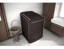 Capa P Maquina De Lavar P Brastemp / Electrolux / Consul 12kg 15kg 16kg Com Zíper Marron - Adomes