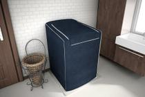 Capa P/ Máquina de Lavar Roupas - C/ Zíper - 7Kg a 9Kg - Azul Cobalto - Adomes -