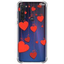 Capa p/ moto g stylus 2020 (0708) corações 3 - Quarkcase