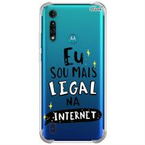 Capa p/ moto g8 power lite (0468) sou mais legal na internet - Quarkcase