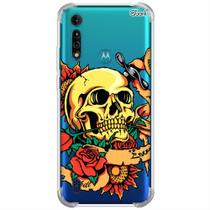 Capa p/ moto g8 power lite (0660) caveira do amor - Quarkcase