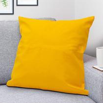 Capa para Almofada Liso Amarela - Shelter -