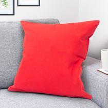Capa para Almofada Liso Vermelha - Shelter -