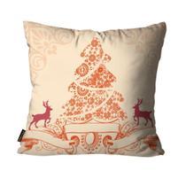 Capa para Almofada Mdecore Natal Arvore de Natal Bege -
