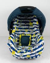 Capa para bebe conforto - safari listrado azul - Alan Pierre Baby