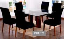 Capa  para cadeira de jantar  6 unidades - Shopping Cmc