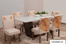 Capa para cadeira Malha Gel 6 peças mesa de jantar Estampada - Empório Do Lar