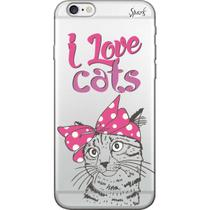 Capa para Celular Motorola Moto G6 Plus - Spark Cases - I Love Cats