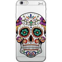 Capa para Celular Samsung J7 Neo - Spark Cases - Caveira Florida Roxa -
