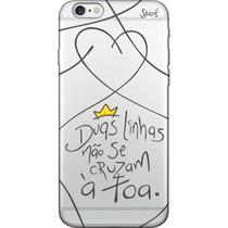 Capa para Celular Samsung J7 Neo - Spark Cases - Duas Linhas Não Se Cruzam a Toa -
