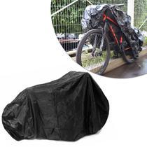 Capa para Cobrir Bicicleta Aro 26 27,5 e 29 Preto em Nylon Impermeável - ZP