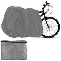Capa Para Cobrir Bicicleta Bike Impermeável Cinza Com Forro Tamanho Universal - Carrhel