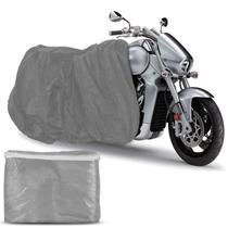 Capa Para Cobrir Moto Proteção Impermeável Raios UV Com Elástico Não Risca a Pintura Universal Prata - Carrhel