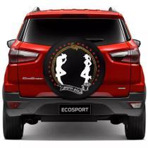 Capa para Estepe CowBoy Country Style Ecosport CrossFox 2005 a 2017 Air Cross 2011 a 2017 Spin Activ 2015 a 2017 Com Cadeado - Carrhel