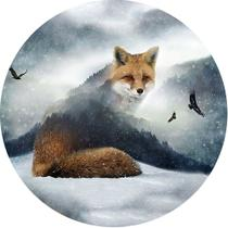 Capa para Estepe Pneu Especial Crossfox  Fox Raposa 4 CN876 - Lorben -