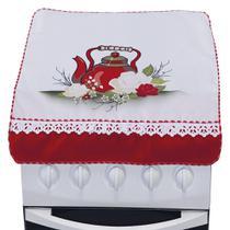 Capa Para Fogão 4 Bocas de Rosa Branca - Outfiter