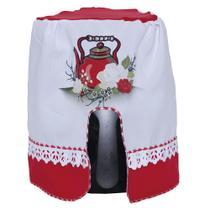 Capa Para Fritadeira Rosa Branca 100% Oxford - Outfiter