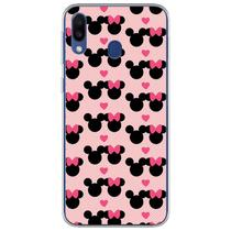 Capa para Galaxy A20S - Minnie e Mickey  Love - Mycase