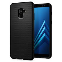 Capa para galaxy a8 plus liquid air spigen matte black