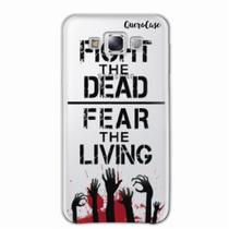 Capa para Galaxy E7 Walking Dead - Fight The Dead - Quero case