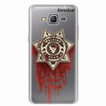 Capa para Galaxy Grand Prime Walking Dead Distintivo - Quero case