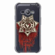 Capa para Galaxy J1 Ace Walking Dead Distintivo - Quero case