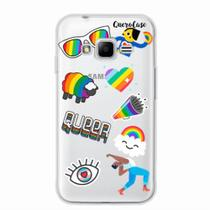 Capa para Galaxy J1 Mini Prime Pride Sticker Transparente - Quero case