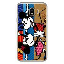 Capa para Galaxy J4 - Minnie e Mickey  Romero Britto - Mycase