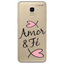 Capa para Galaxy J6 - Amor e fé. - Mycase