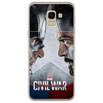 Capa para Galaxy J6 - Capitão América Guerra Civil 1 - Mycase
