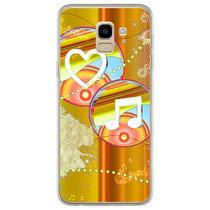 Capa para Galaxy J6 - Música  I Love Music 3 - Mycase