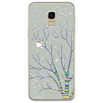 Capa para Galaxy J6 - Passarinho na Neve - Mycase
