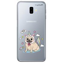 Capa para Galaxy J6 Plus - Pug Vestido de Unicórnio - Mycase