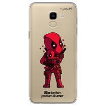 Capa para Galaxy J6 - Vilões Precisam de Amor  DeadPool - Mycase