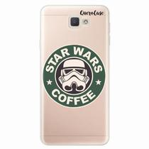 Capa para Galaxy J7 Prime Star Wars Coffee Transparente