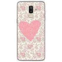 Capa para Galaxy J8 - Coração Floral - Mycase