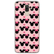 Capa para Galaxy J8 - Minnie e Mickey  Love - Mycase