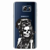 Capa para Galaxy Note 5 Caveira Amy Winehouse Transparente - Quero case